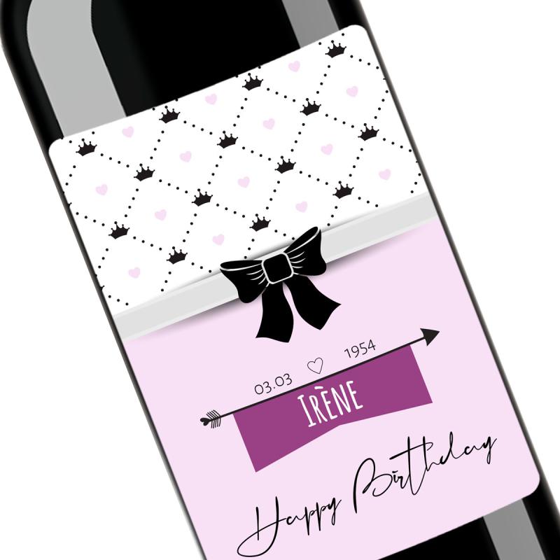 Cadeau anniversaire | Bouteille à personnaliser avec date de naissance