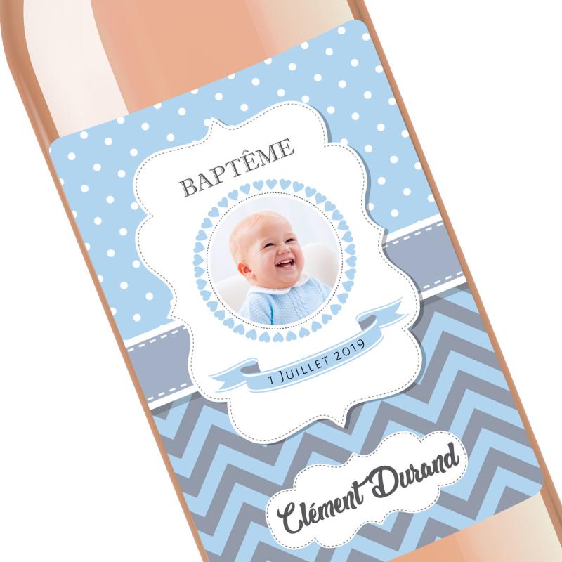 bouteille personnalisé baptême
