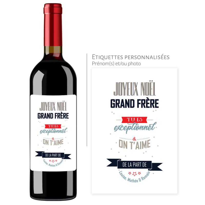 Cadeau noël Grand-Frère | Bouteille personnalisée Tu es exceptionnel
