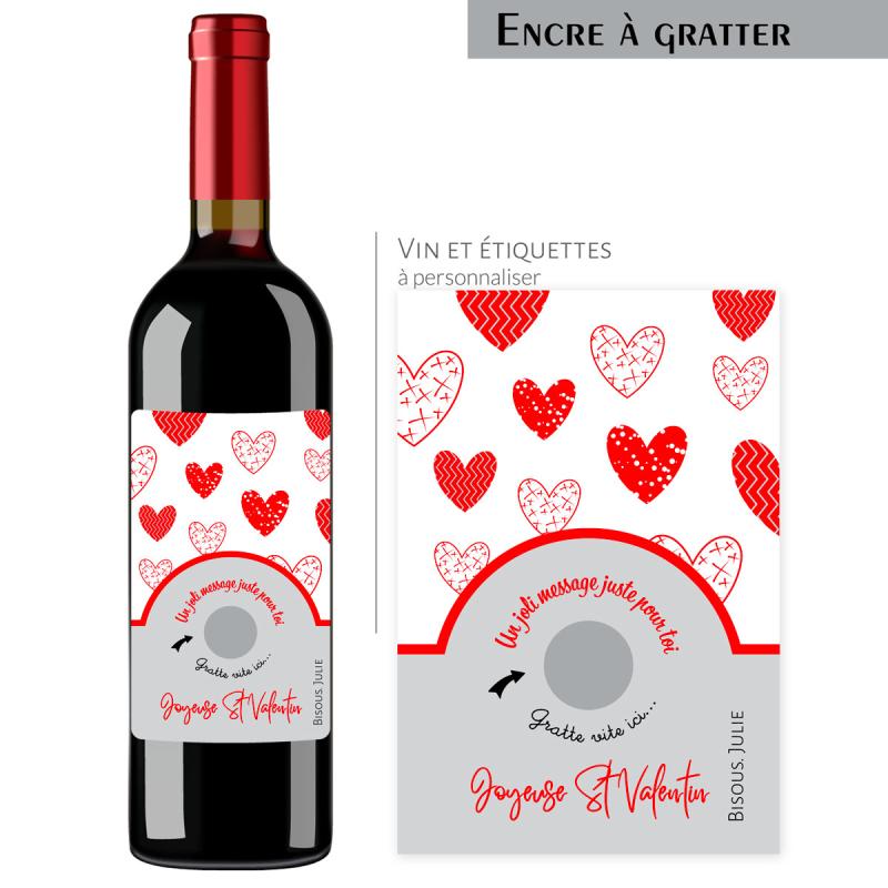Cadeau St Valentin | Bouteille personnalisée message juste pour toi
