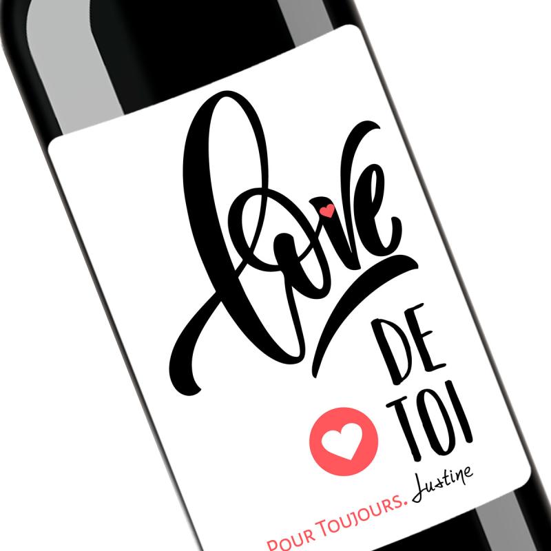 Cadeau amour | Bouteille personnalisée love de toi pour toujours